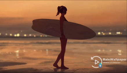 Beach Surfing Girl by Jimking