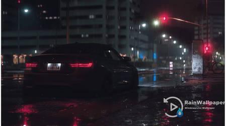 BMW M4 in the Night Rain by Jimking