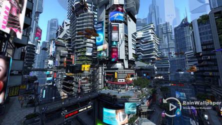 Futuristic City 3D LWP Long Version by Jimking