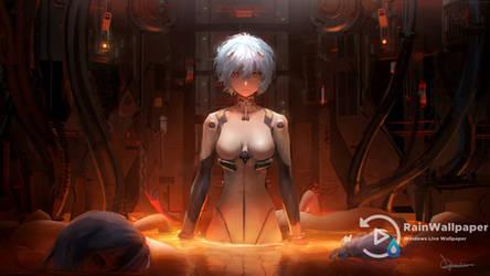 Rei Ayanami Neon Genesis-Evangelion by Jimking