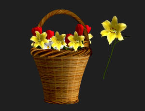 [FF7R] Aerith Basket + Yellow Flower