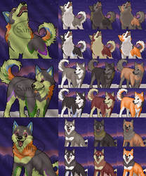 Free Husky Portrait Set by FerianMoon