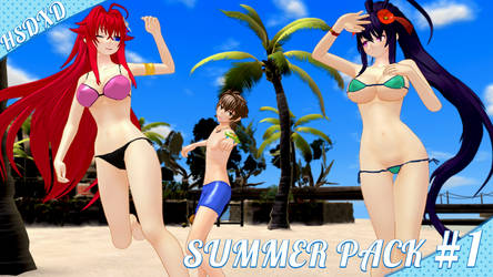 MMD Highschool DxD Summer Pack #1