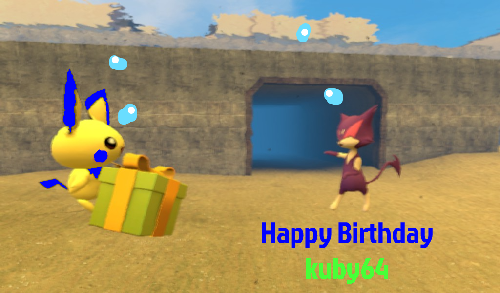 kuby64 B-day gift by AquaMon16