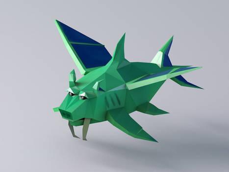 Duke Fishron - Low Poly Model