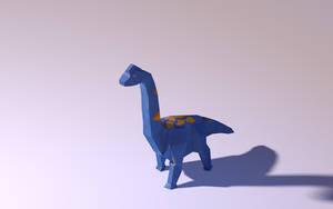 Brachiosaurus Walking - Low Poly Model