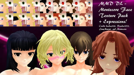 MMD DL - Montecore Face Textures by deedee524