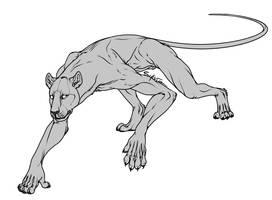 FREE Werecat Lineart