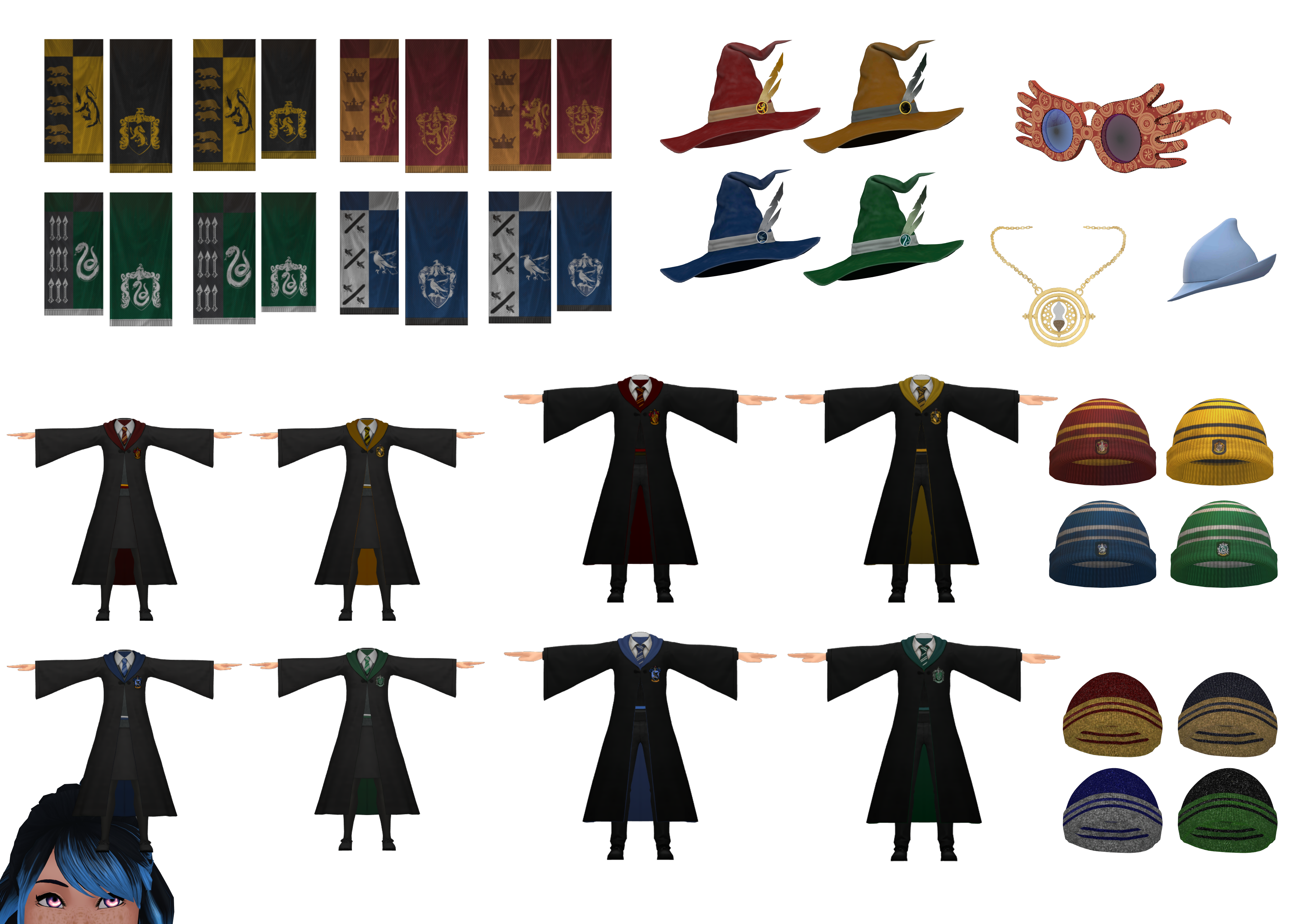 Mmd Hogwarts Robes And Accessories Dl By Naminf On Deviantart