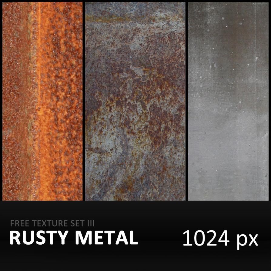 Texture Set III      Rusty Metal by diGitALae