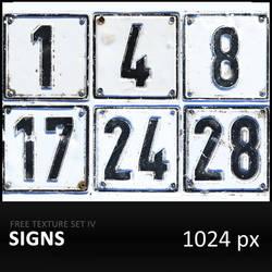 Texture Set IV     Signs by diGitALae