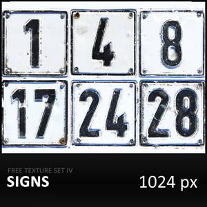 Texture Set IV     Signs