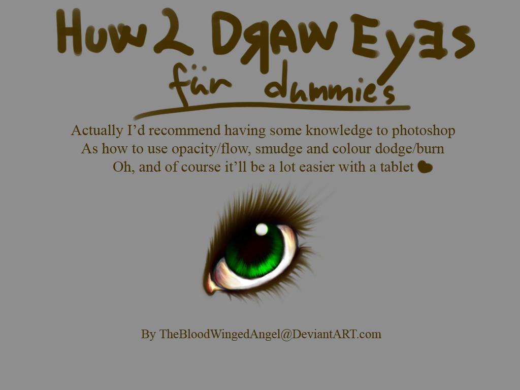 Huw 2 Draw Eyes Fur Dummies By Thebloodwingedangel