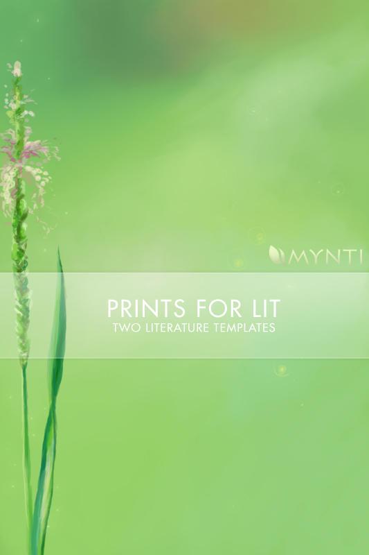 mynti Spring Flowers by PrintsForLit