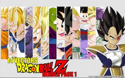 Dragonball Z Anime Render Pack 1 by TattyDesigns
