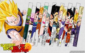 Dragonball Z Anime Render Pack 2 by TattyDesigns