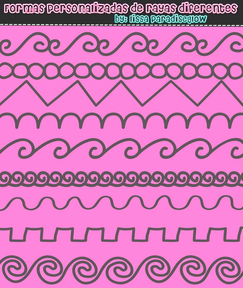 Formas personalizadas de lineas by LissaParadiseglowYT