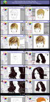 How to draw hair in Paint Tool Sai  (Tutorial)