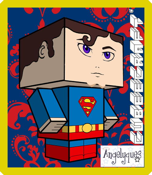 Superman Cubeecraft by angelyques