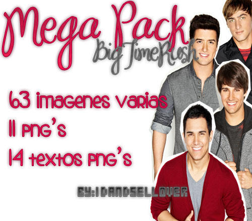 Mega Pack de Big Time Rush by 1DAndSelLover
