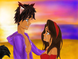 Aphmau and Aaron meet after 1 year by CaitlinCrafts