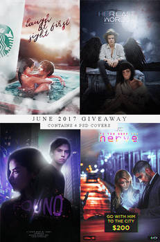 Giveaway June 2017 - 4 PSD covers