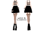  mmd  punk outfit DL