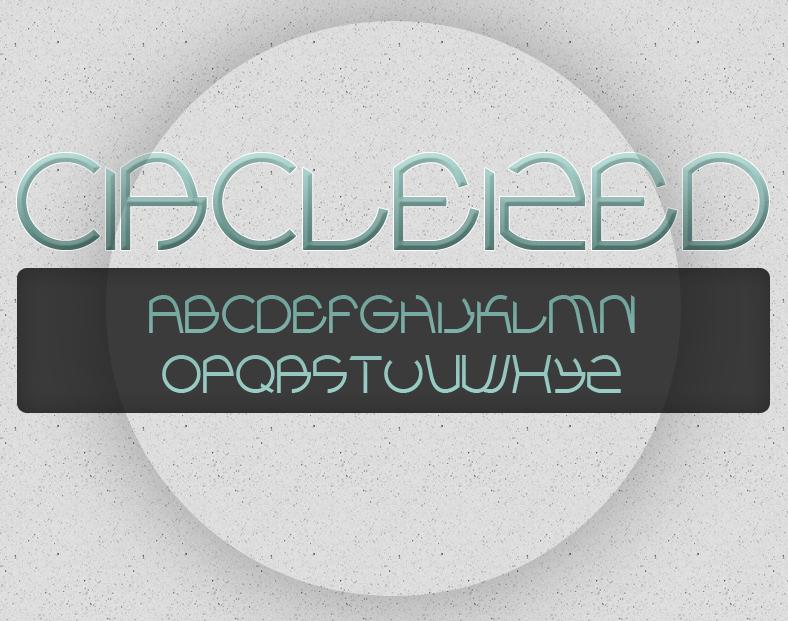 C I R C L E I Z E D  font by doodle-lee-doo
