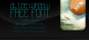 ::at the window FREE font::