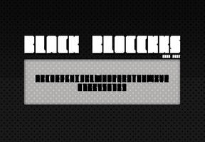 Black Blocckks FREE FONT by doodle-lee-doo