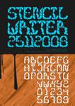 stencil writer font