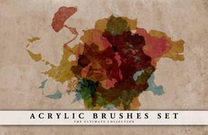 Acrylic brushes set by doodle-lee-doo