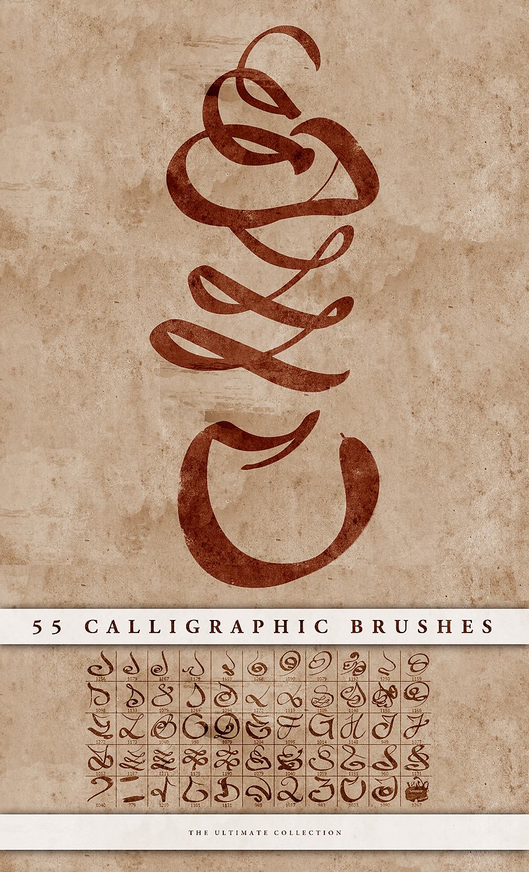 Calligraphic brushes