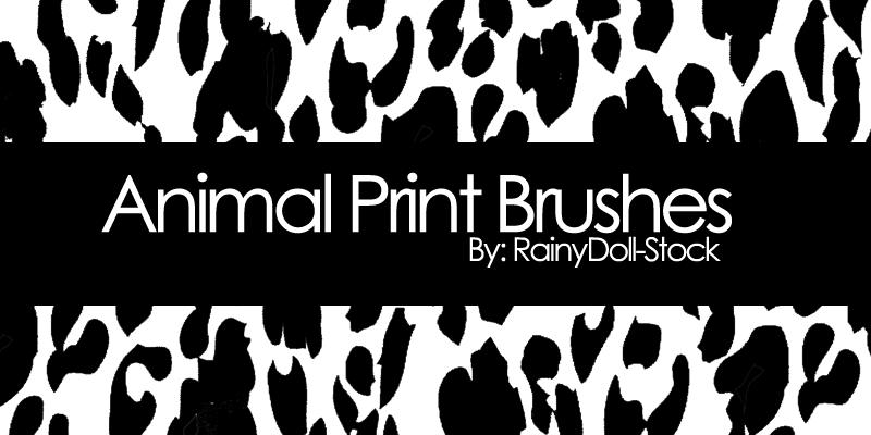 Animal Print Brushes by RainyDoll-Stock