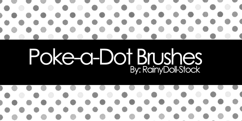 Poke-a-Dot Brushes by RainyDoll-Stock