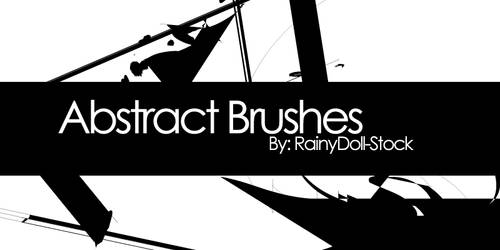 Abstract Brushes by RainyDoll-Stock