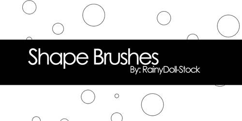 Shape Brushes by RainyDoll-Stock