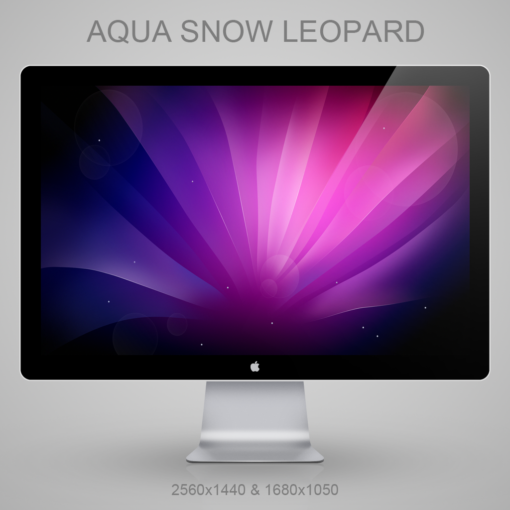 Aqua Snow Leopard v2 by Lukeedee