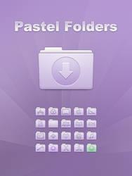 Aqua Pastel Folders by Lukeedee