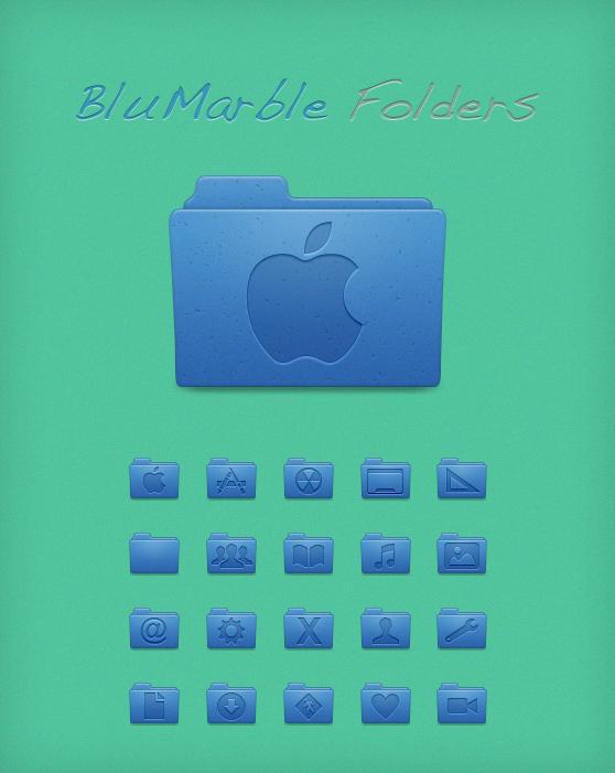 BluMarble Folders by Lukeedee