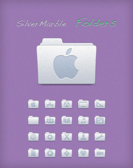 Silver Marble Folders by Lukeedee
