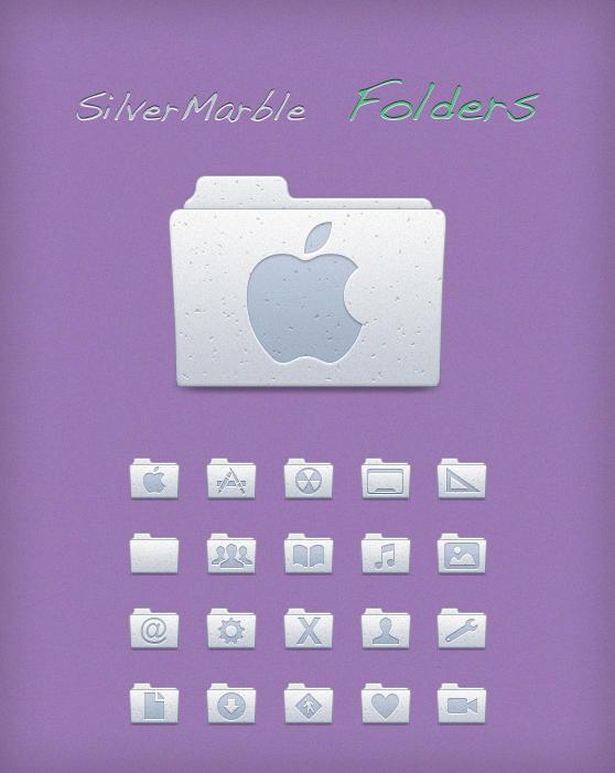 Silver Marble Folders by Lukeedee