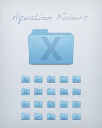 Aqua Lion Folders by Lukeedee