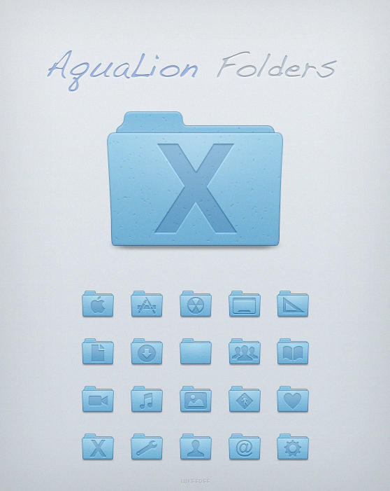 Aqua Lion Folders by Lukeedee