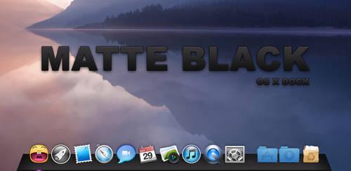 Matte Black Dock by Lukeedee