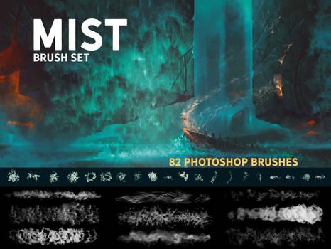 Mist Photoshop brush set