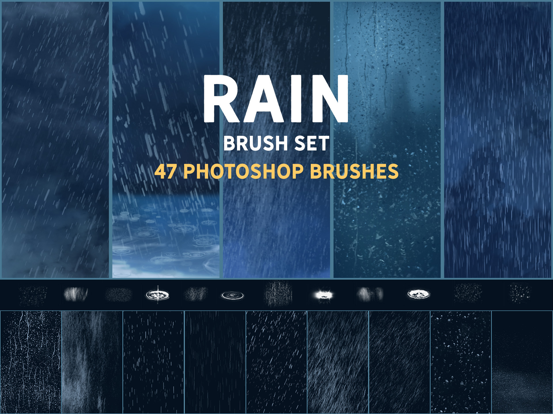 Rain brush set