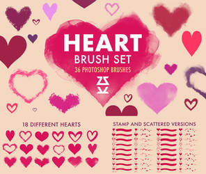 Heart Brush Set