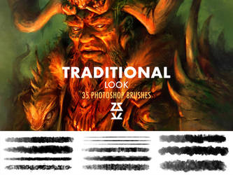 Traditional Look Brush Set