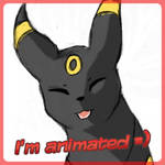 Simple smiling Umbreon animation